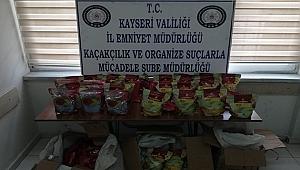 Kayseri'de 100 kilo kaçak tütün ele geçirildi