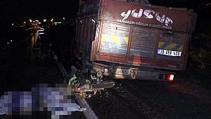 Kayseri'de motosiklet, kamyona çarptı: 2 ölü