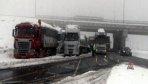 Malatya yolu tır trafiğine kapatıldı