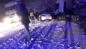Pınarbaşı'nda zincirleme kaza: 1 yaralı