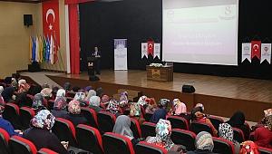 """Hacılar'da """"Medeniyetin inşasında kadın ve üretim"""" programı düzenlendi"""