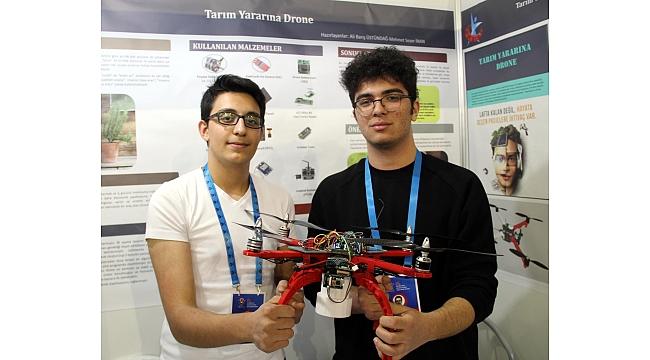Liselilerden 'tarım dostu drone'