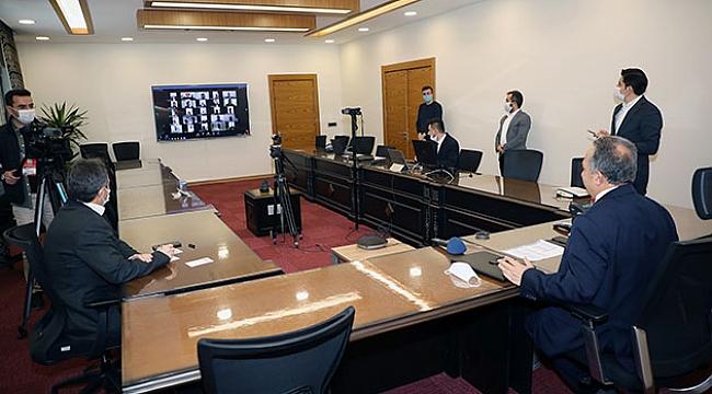 Başkan Yalçın video konferansla bayramlaştı
