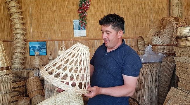 Sultan Sazlığı'ndan kesilen kamışlardan yapılan ürünler Avrupa'ya gidiyor