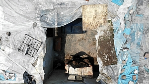 Tavanı çöken müstakil evde yaşam mücadelesi