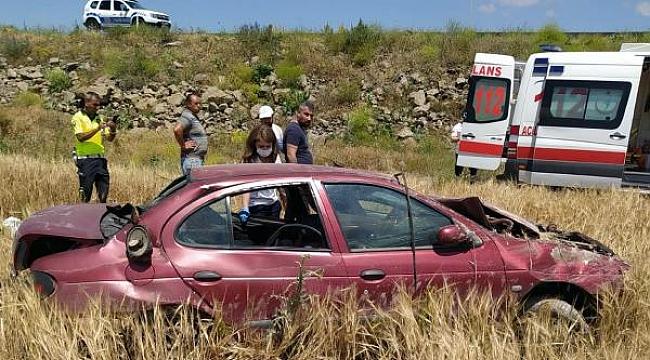 Kayseri'de otomobil şarampole devrildi: 5 yaralı