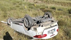 Kayseri'de otomobil şarampole yuvarlandı: 1 yaralı