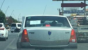 Sürücülerin dikkatini çeken uyarı