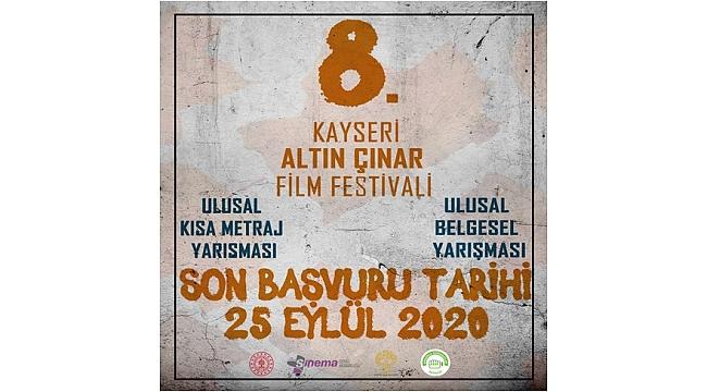 8. Kayseri Altın Çınar Film Festivali başvuruları başladı