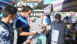 Bünyan Belediyesi maske dağıtımını sürdürüyor