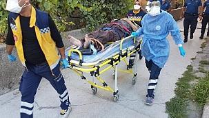 2'nci kat balkonundan düşen yaşlı adam ağır yaralandı