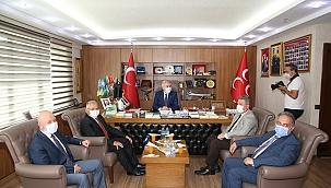 Başkanlardan CHP, MHP ve İYİ Parti'ye ziyaret