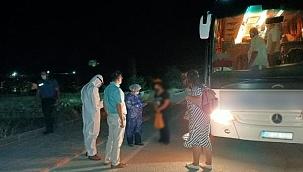 Koronavirüs testi pozitif çıkan kadın, yolcu otobüsünde yakalandı