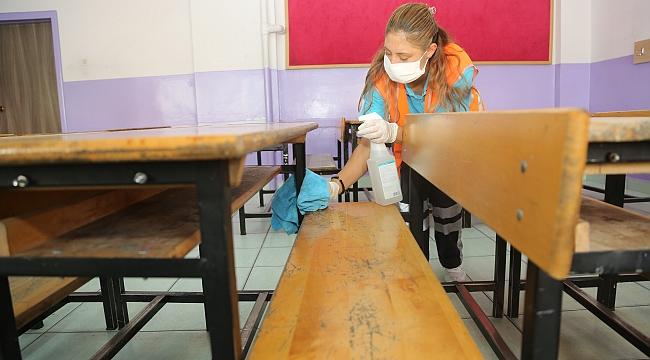 Okullarda 'Yüz yüze eğitim' temizliği