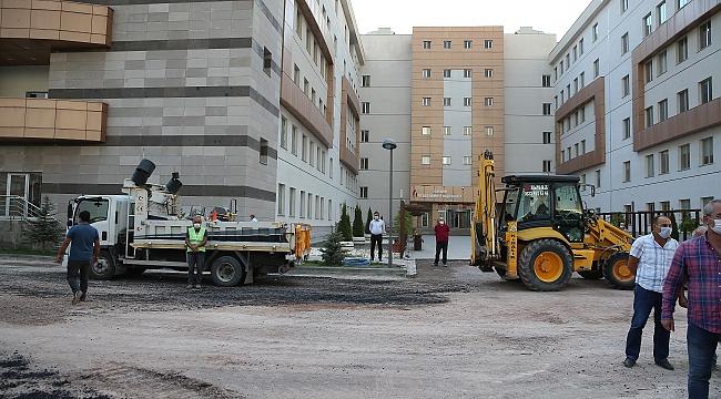 Vergi Dairesi Başkanlığı'nın çevre düzenlemesini Büyükşehir Belediyesi yaptı