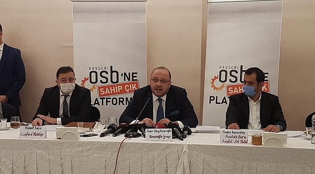 Kayseri OSB'de 350 Bin Dolarlık Makam Odası