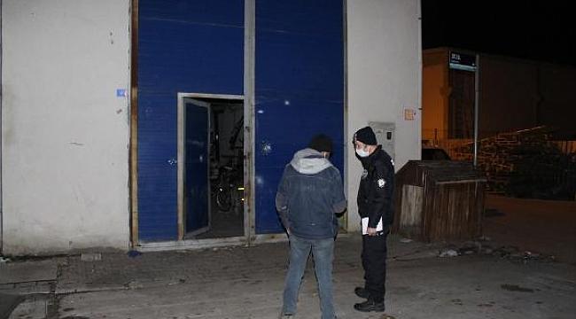 Kayseri'de işyeri kurşunlandı