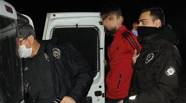 Kısıtlamayı ihlal eden iki şüpheli uyuşturucu ile yakalandı