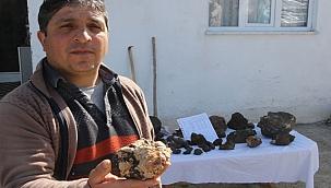 Arazide bulduğu gök taşlarına 200 bin dolar istiyor