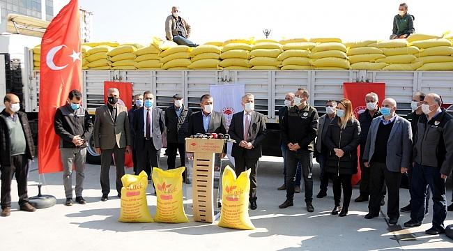 Çiftçilere 83 ton aspir tohumu dağıtıldı