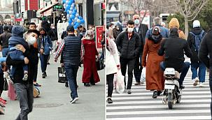 Kayseri'de, kısıtlama öncesi alışveriş hareketliliği