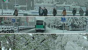 Kayseri'de nisan karı kışı aratmadı