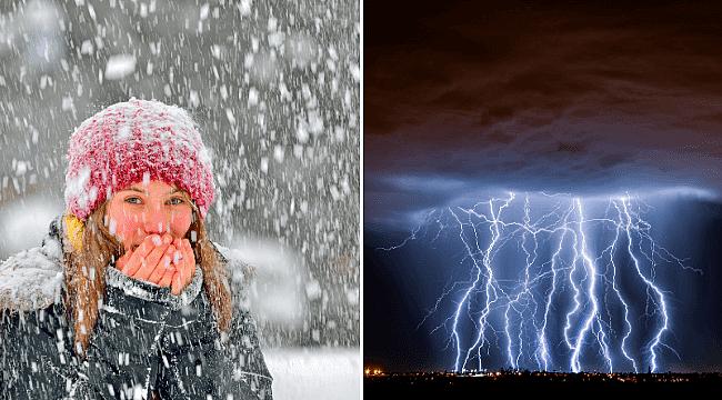 Kayseri'de yoğun kar yağışı ve tipi uyarısı