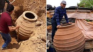 1700 yıllık küp müzeye kaldırıldı
