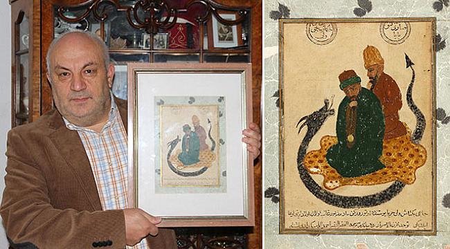 Hacı Bektaş-ı Veli tablosundaki ejderhanın hikayesi