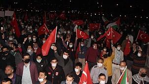 Kayseri'de binlerce kişi Filistin için toplandı