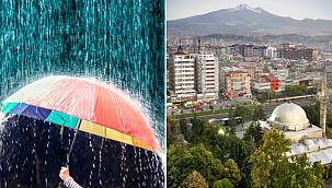 Kayseri için kuvvetli yağış uyarısı