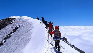 Erciyes Büyük Buzul tırmanışı