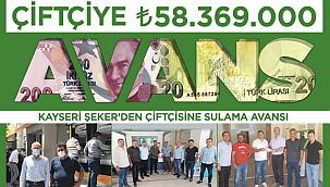 Çiftçiye 58 milyon TL'lik 'Sulama Avansı'