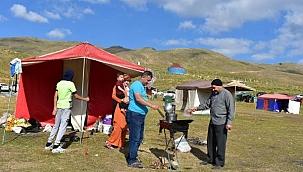 Erciyes'teki çadır kampta yoğunluk