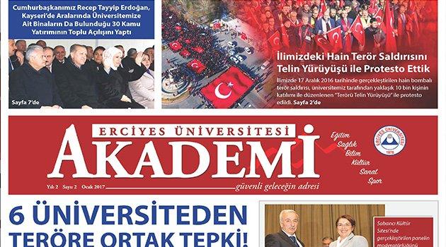 Erciyes Üniversitesi AKADEMİ Gazetesinin İkinci Sayısı Çıktı