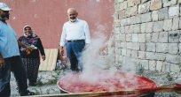 Belediyenin dağıttığı domates fideleri ürün verdi