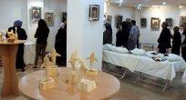 El sanatları kursları ile ahşap yontma çalışmalarından oluşan karma sergi açıldı